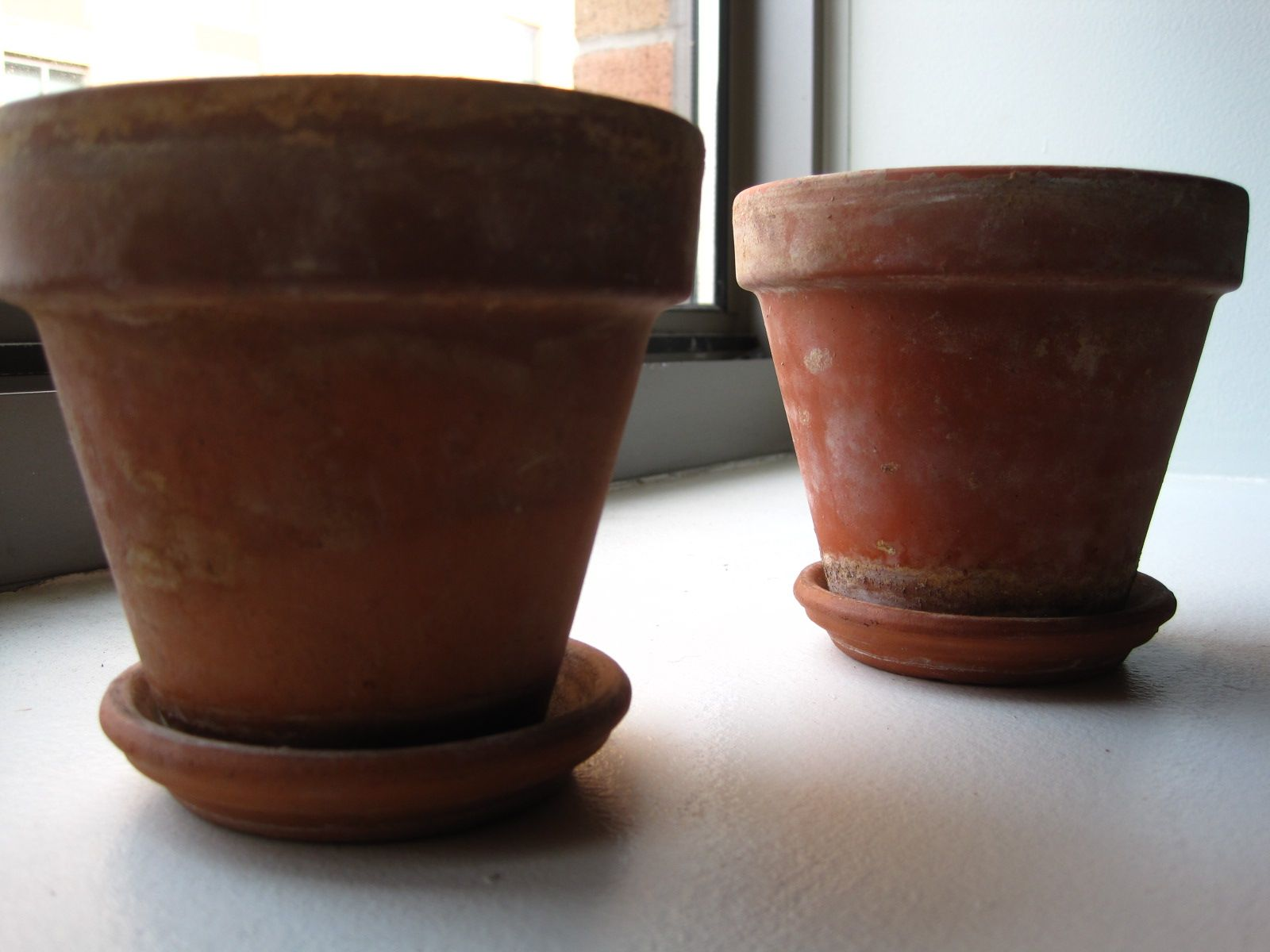 Donated By Kt A Pair Of Small Terracotta Pots Saucers With Natural Patina Small Terracotta Pots Popular Interior Design Housing Works