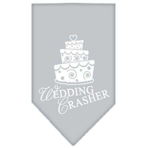Wedding Crasher Screen Print Bandana Grey Large