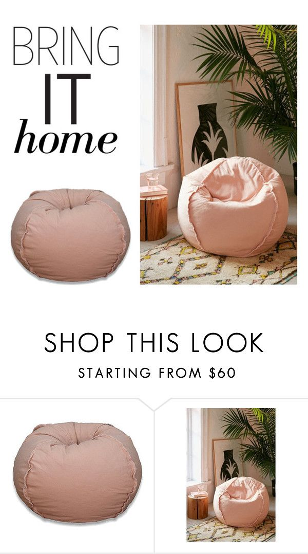 """Bring It Home: Large Canvas Bean Bag Chair"" by polyvore-editorial ❤ liked on Polyvore featuring interior, interiors, interior design, home, home decor, interior decorating, Urban Outfitters and bringithome"