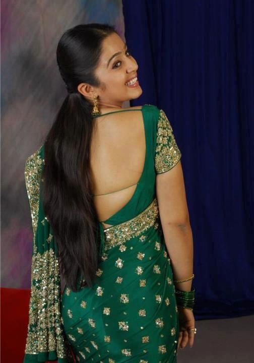 Hairstyles For Long Hair On Saree : Indian long hair hair 1 pinterest