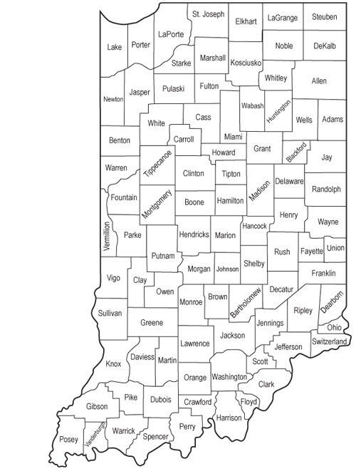 Indiana Map County.Department Of Veterans Affairs Service Officers By County Helpful