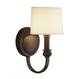 sconce lighting lowes. lowes allen \u0026 roth 1 light bronze arm with fabric shade sconce lighting a