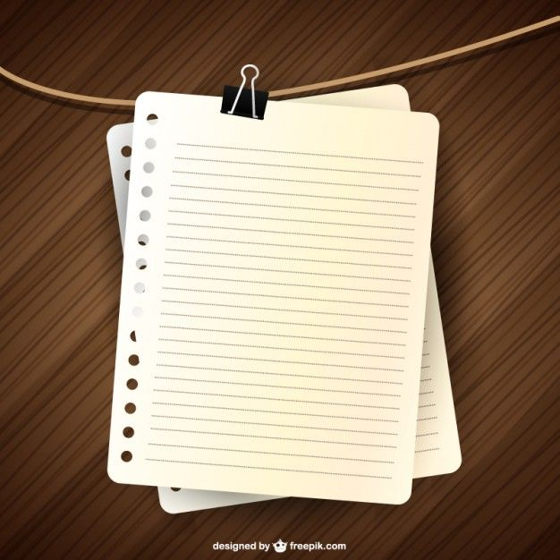 Design da página notebook vetor Note paper, Planners and Scrap - notebook paper download