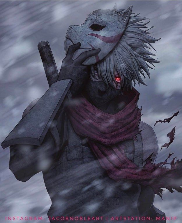 This incredible piece of Kakashi artwork is my new lock screen, figured I'd share it with you guys too!🔥