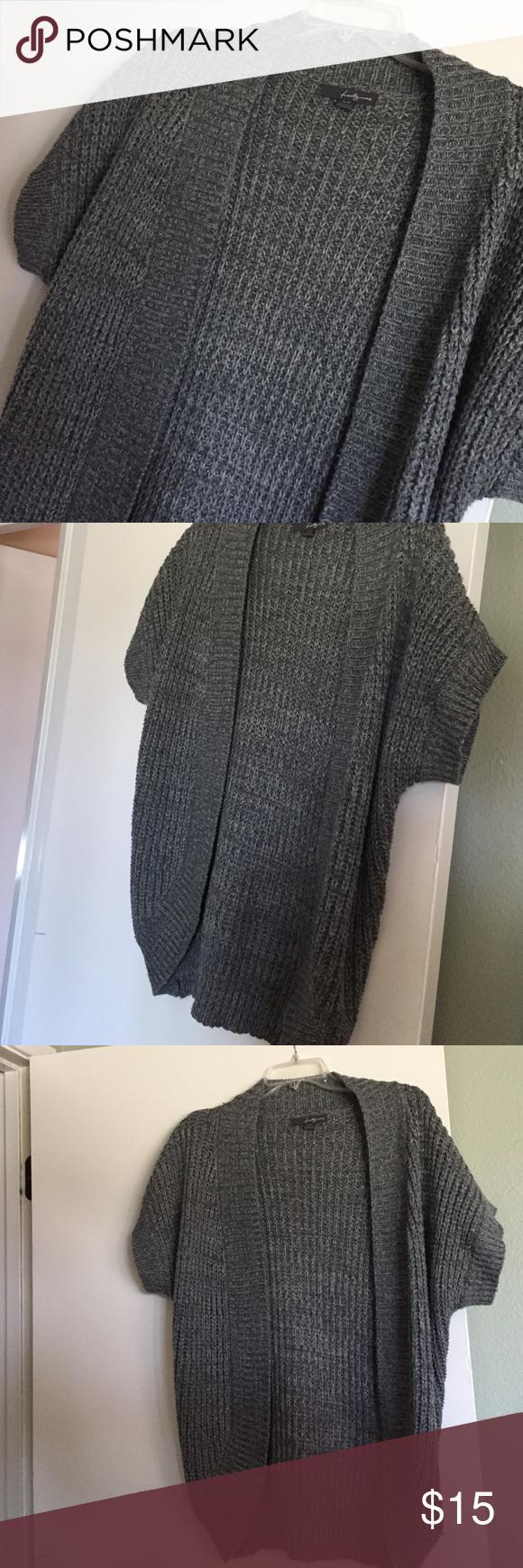 Forever 21 Gray short sleeve chunky sweater