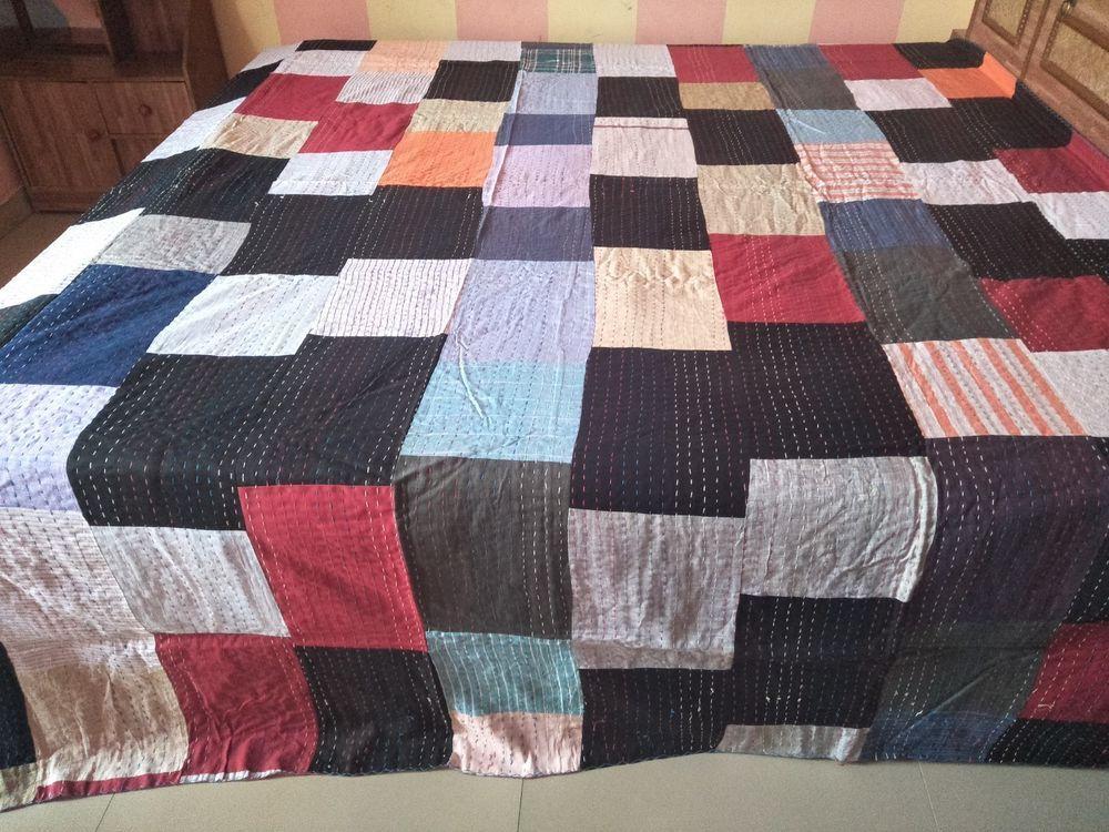 Patchwork Handmade Vintage Kantha Quilt Bedspreads Gudari