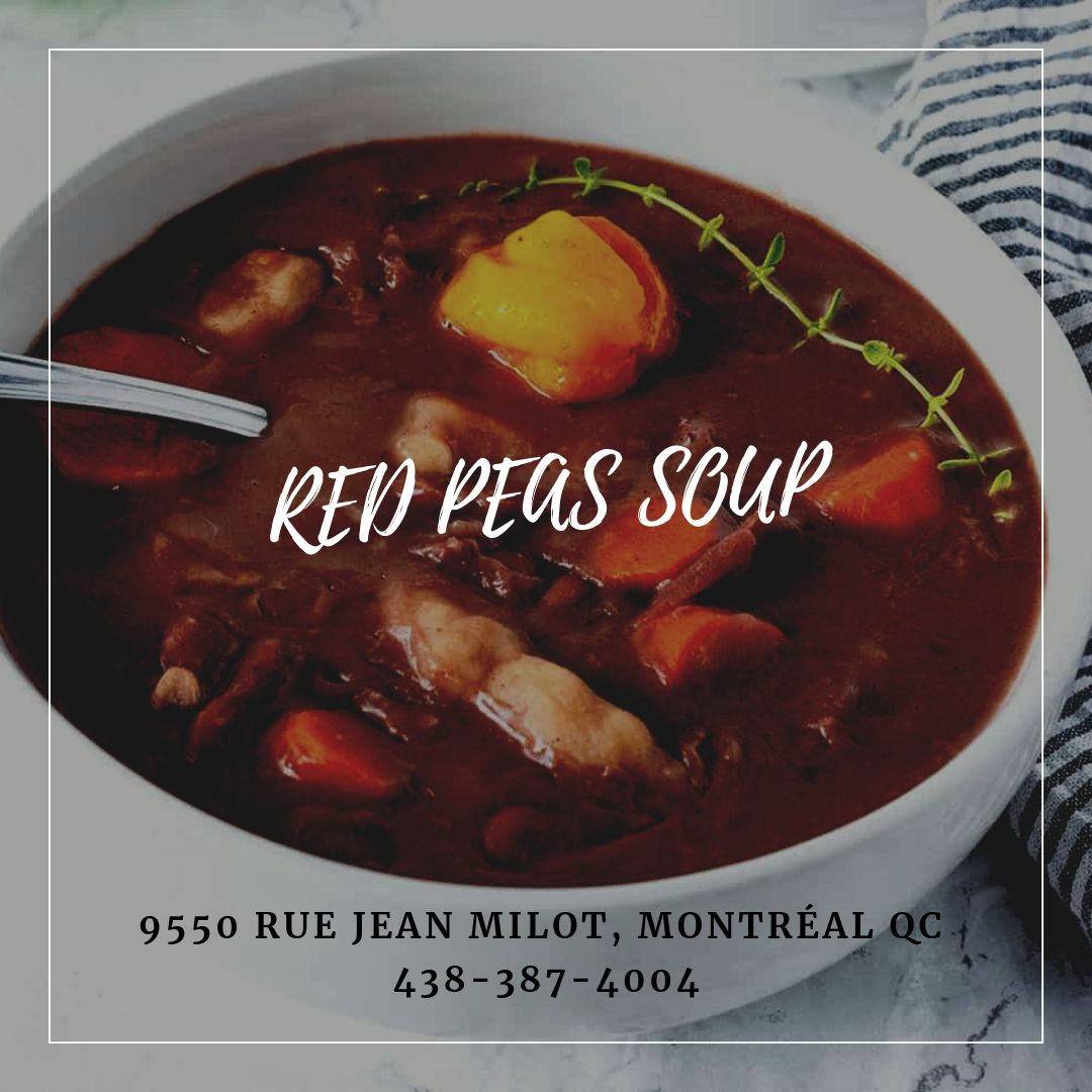 you totally need a hot bowl of red peas soup in this freezing cold  red peas curry goat pea soup