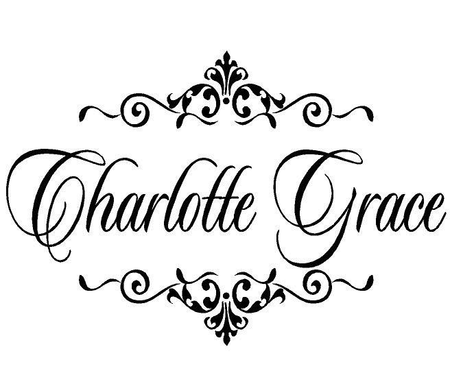 Girl Name Wall Decals Personalized Baby Nursery Monogram Vinyl - Monogram vinyl wall decals for girls