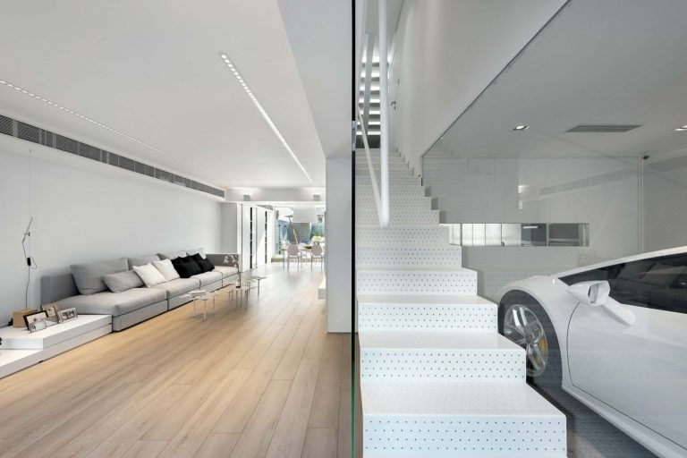 Minimalist staircase in modern house by millimeter interior design also rh pinterest