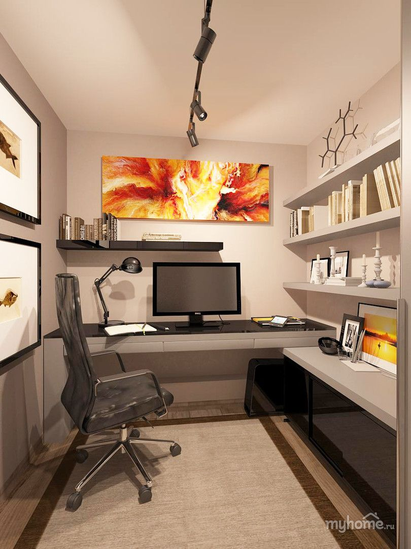 Nice small home office practical setup kind of how my for Home office design layout