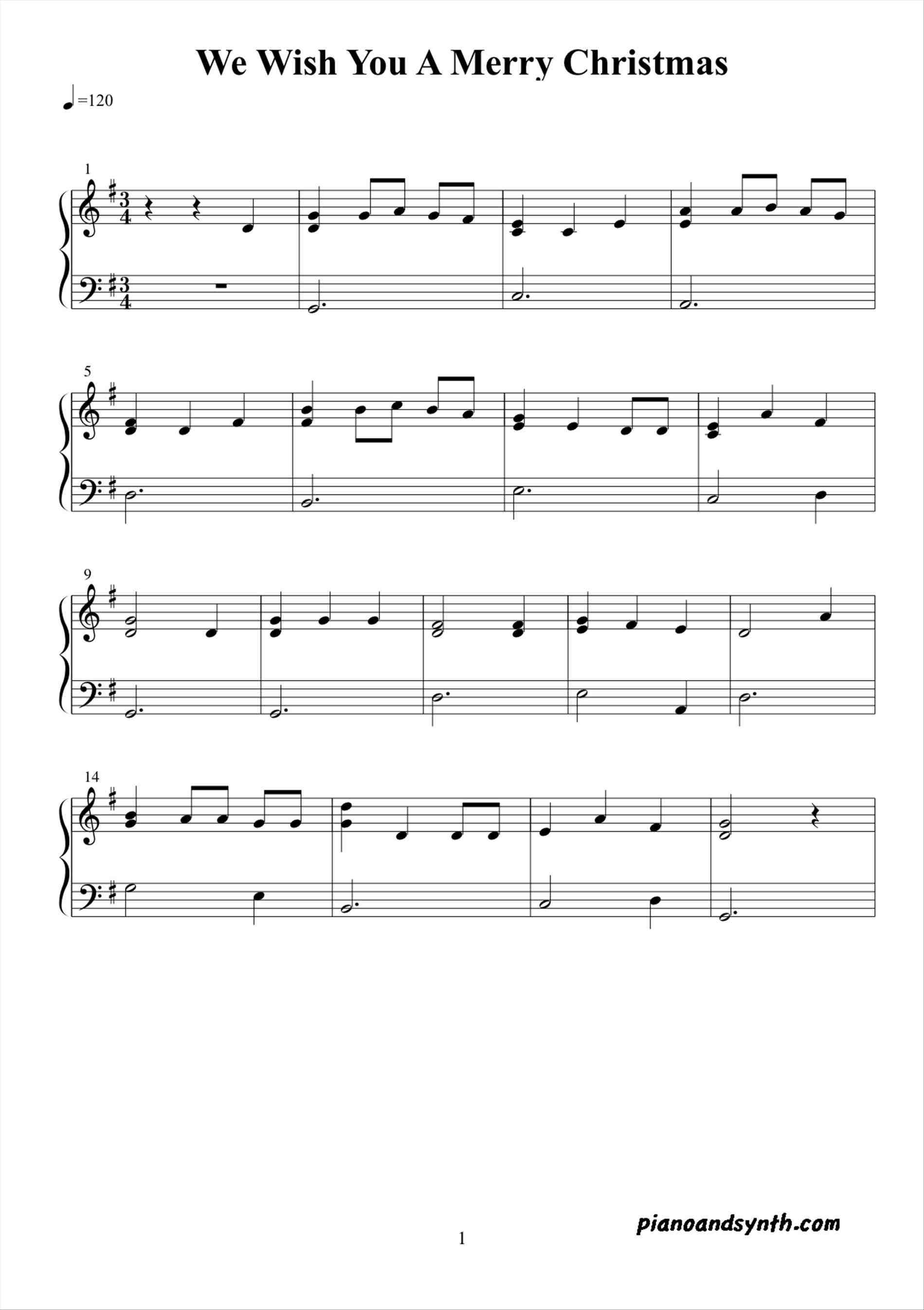 New Post-we wish you a merry christmas sheet music guitar ...