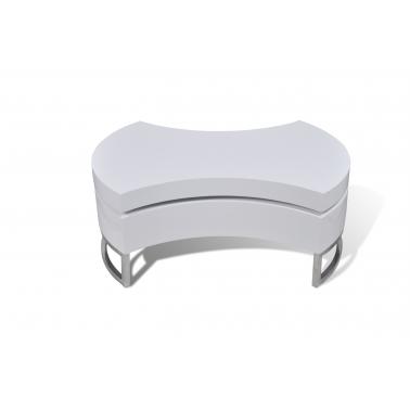 Mesa de centro moderna y ajustable negra con brillo | Mesas