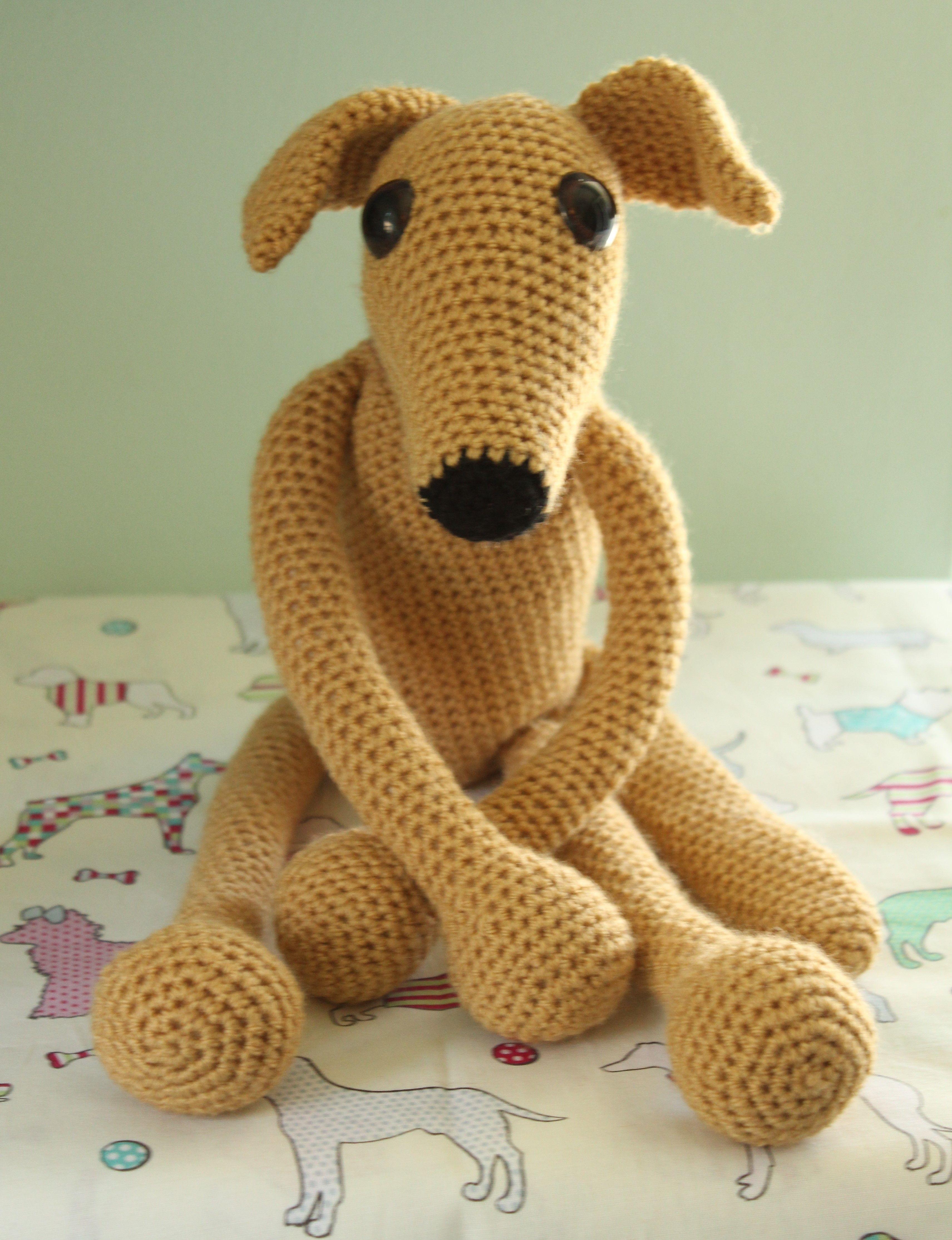 Greyhound Knitting Pattern Free : Greyhound whippet sighthound amigurumi crochet my design ...