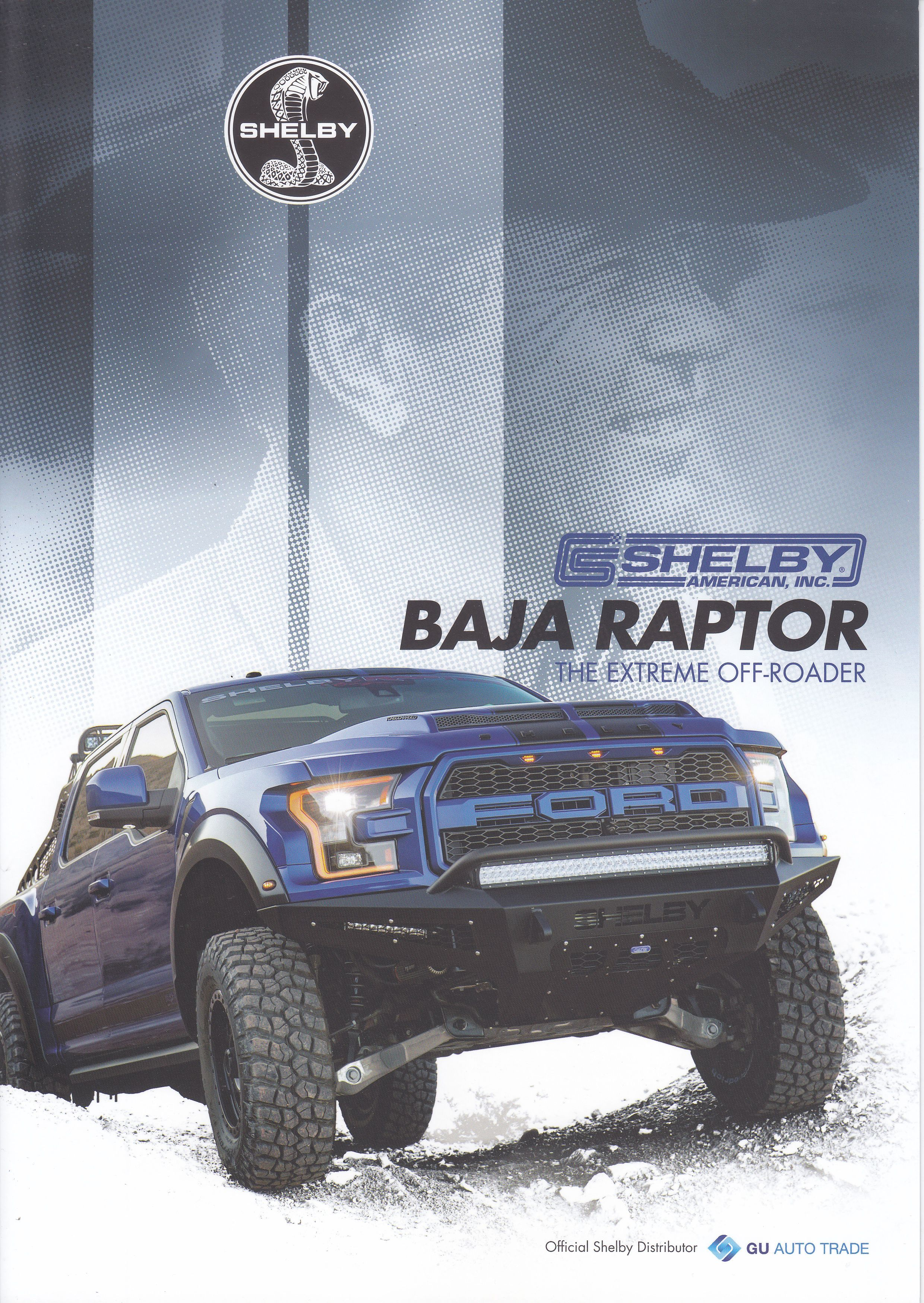 Shelby Baja Raptor 4 Page Brochure 2017 Dutch Issue In English