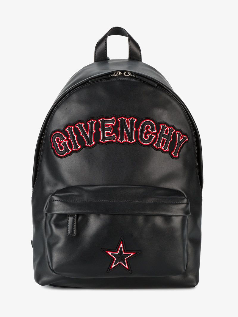 173a969a92 GIVENCHY SMALL LOGO APPLIQUE BACKPACK.  givenchy  bags  leather  backpacks
