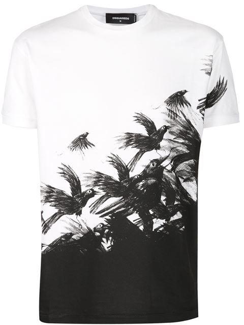 Dsquared2 Camiseta Con Estampado De Aves - Atelier Ny - Farfetch.com ... c5647364d78
