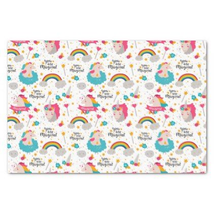 Cute unicorn magical pattern tissue paper voltagebd Gallery