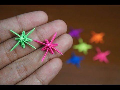 Mini Origami - How to make Sparkling Star Origami ... - photo#48