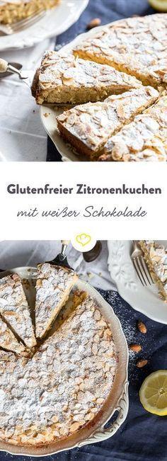 Mandel-Zitronenkuchen mit weißer Schokolade - glutenfrei!
