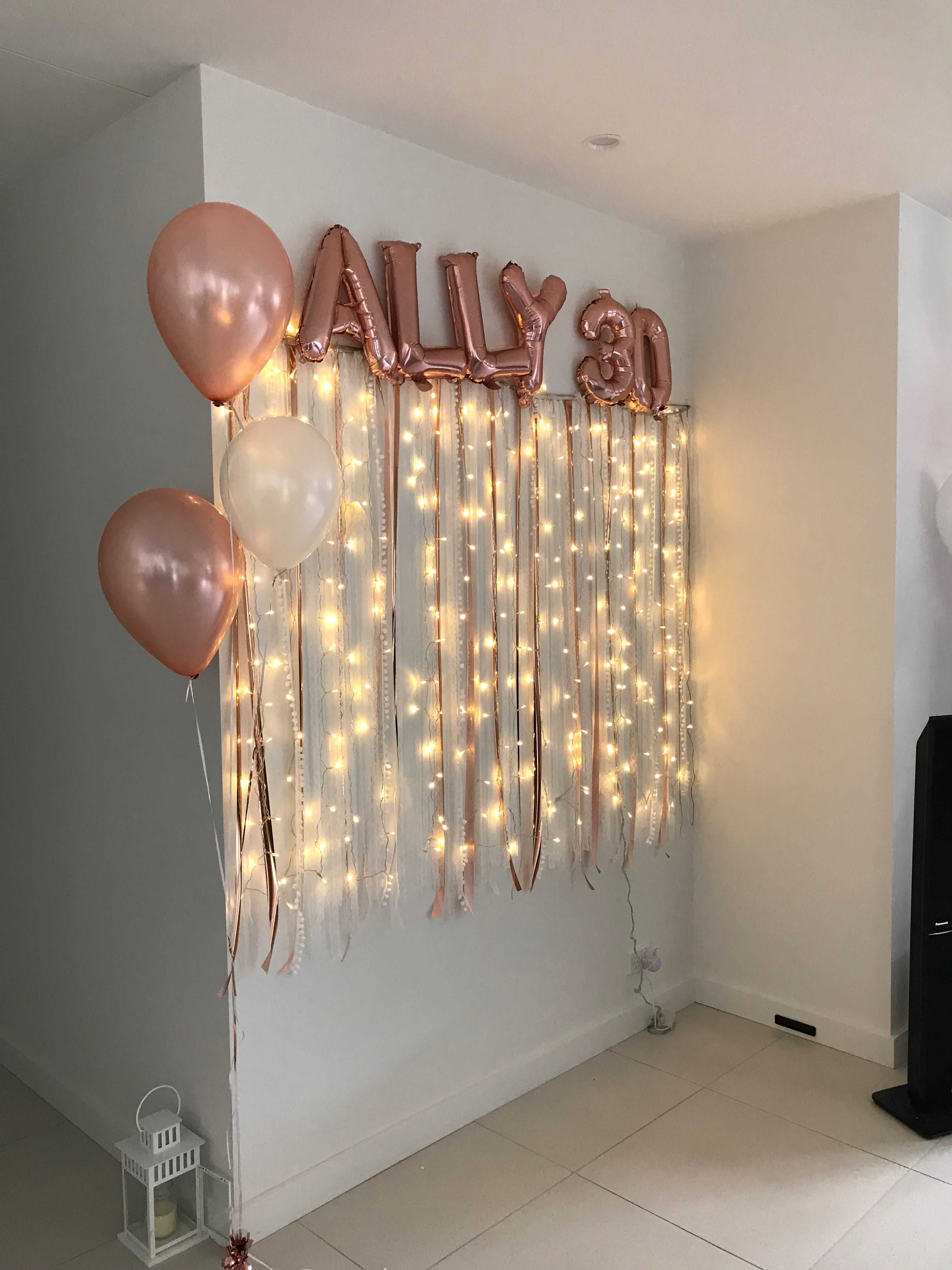Boho garland and party lights #sweet16birthdayparty