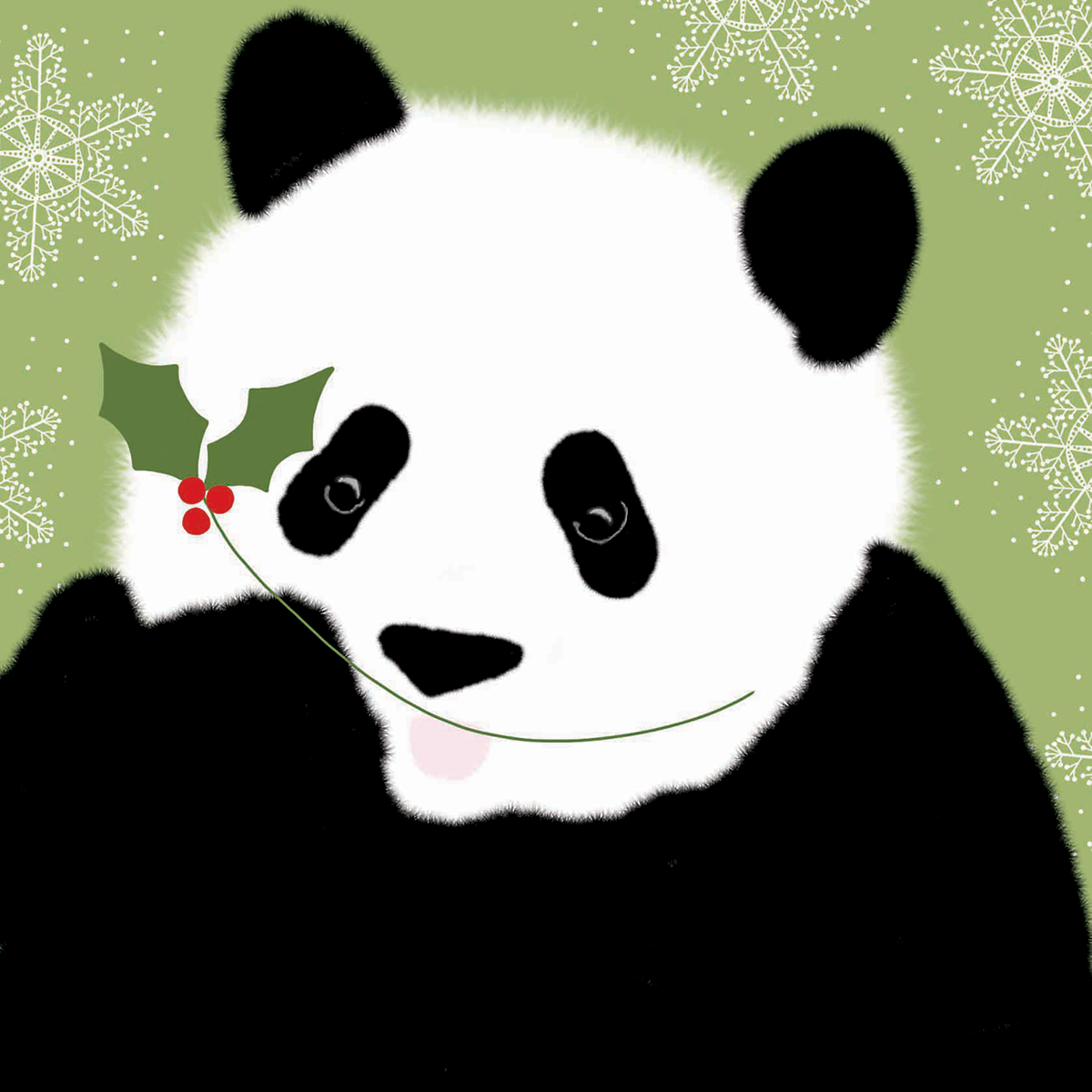 Pack of 10 140mm x 140mm WWF Pucker Up Christmas cards with ...