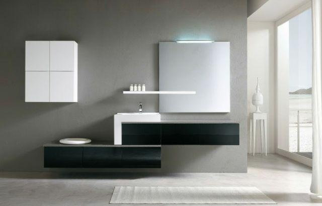 meuble salle de bain suspendu design