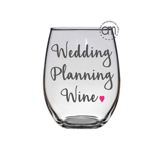 Wedding Planning Wine Engagement Gift Bride To Be Proposal