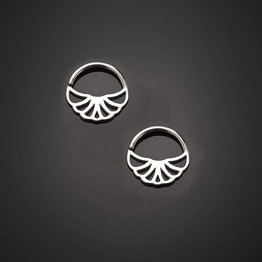 Hoop Earrings Indian Tribal Small Silver Gold Hoops Tiny