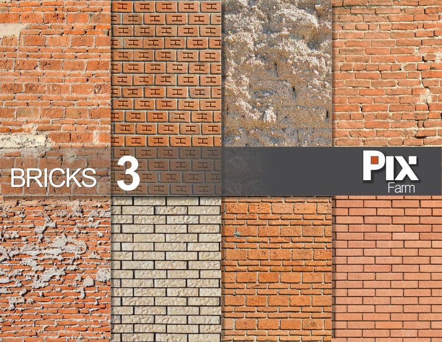 BRICKS 3 Brick Wall Texture Digital Paper Materials Architecture Clip Art Red Pattern Adobe Industrial