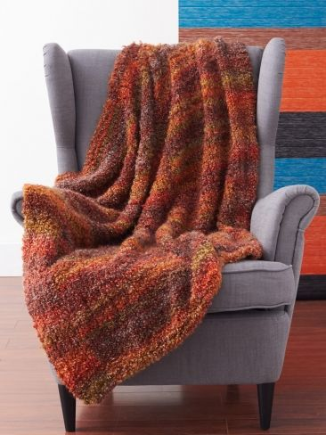 Cozy and Quick Blanket | Yarn | Free Knitting Patterns | Crochet Patterns | Yarnspirations