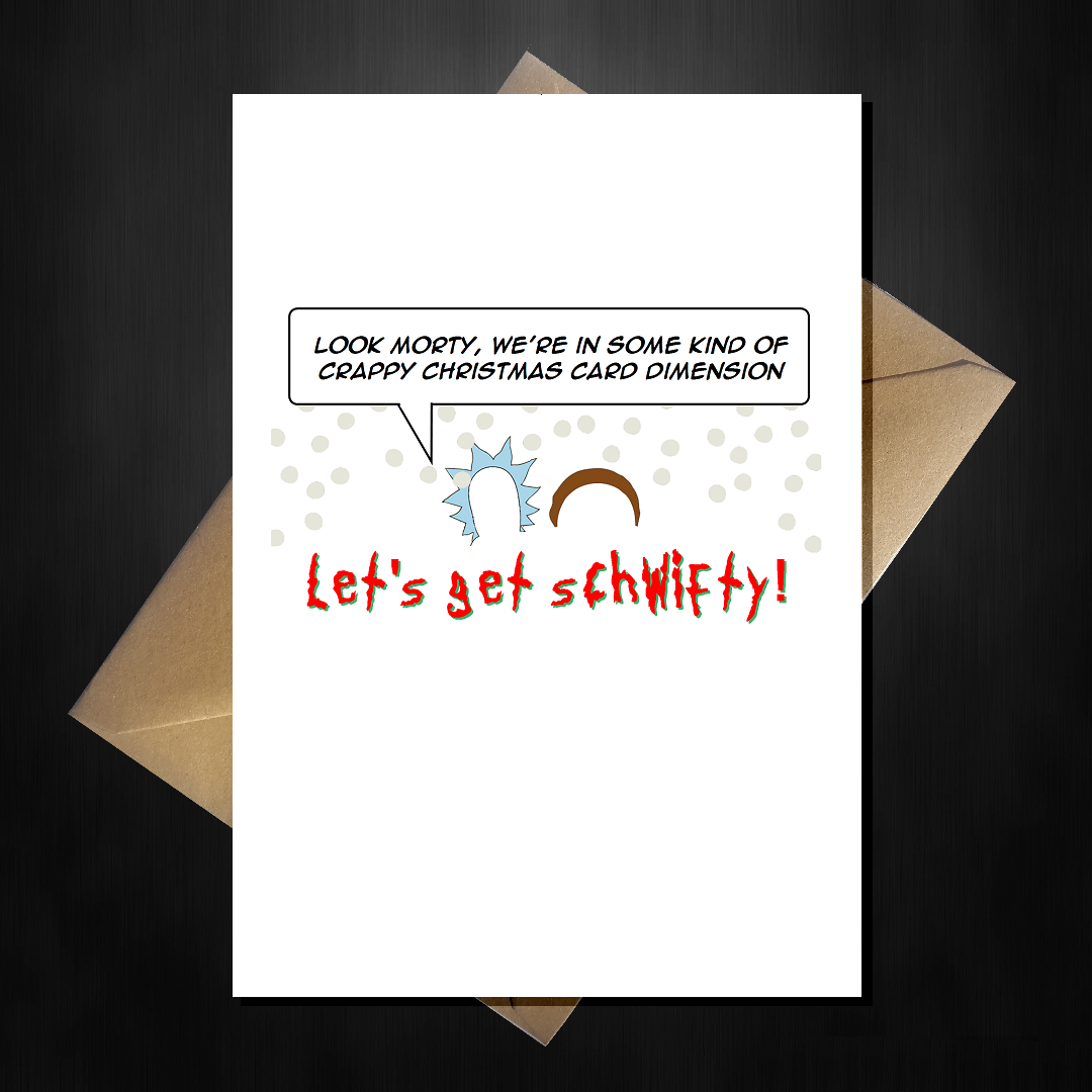 Rick and Morty  Personalised Birthday card any name age relation