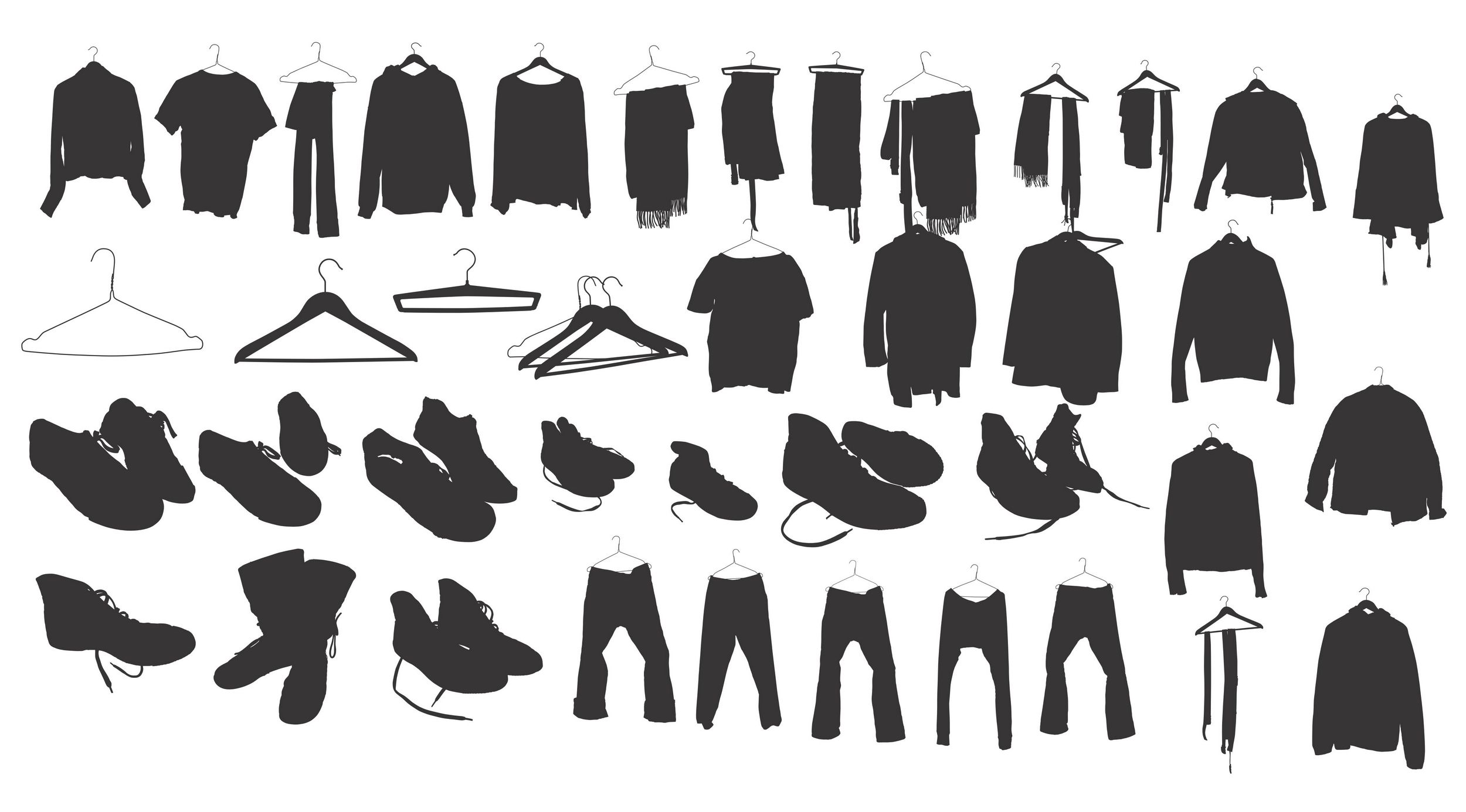 clothing shoes silhouette
