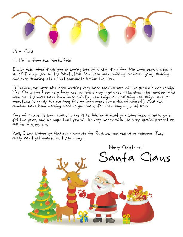 Easy free letter from santa magical package santa christmas santa christmas eve letter from santa printable letters from santa available in both free and magical low cost versions spiritdancerdesigns Images
