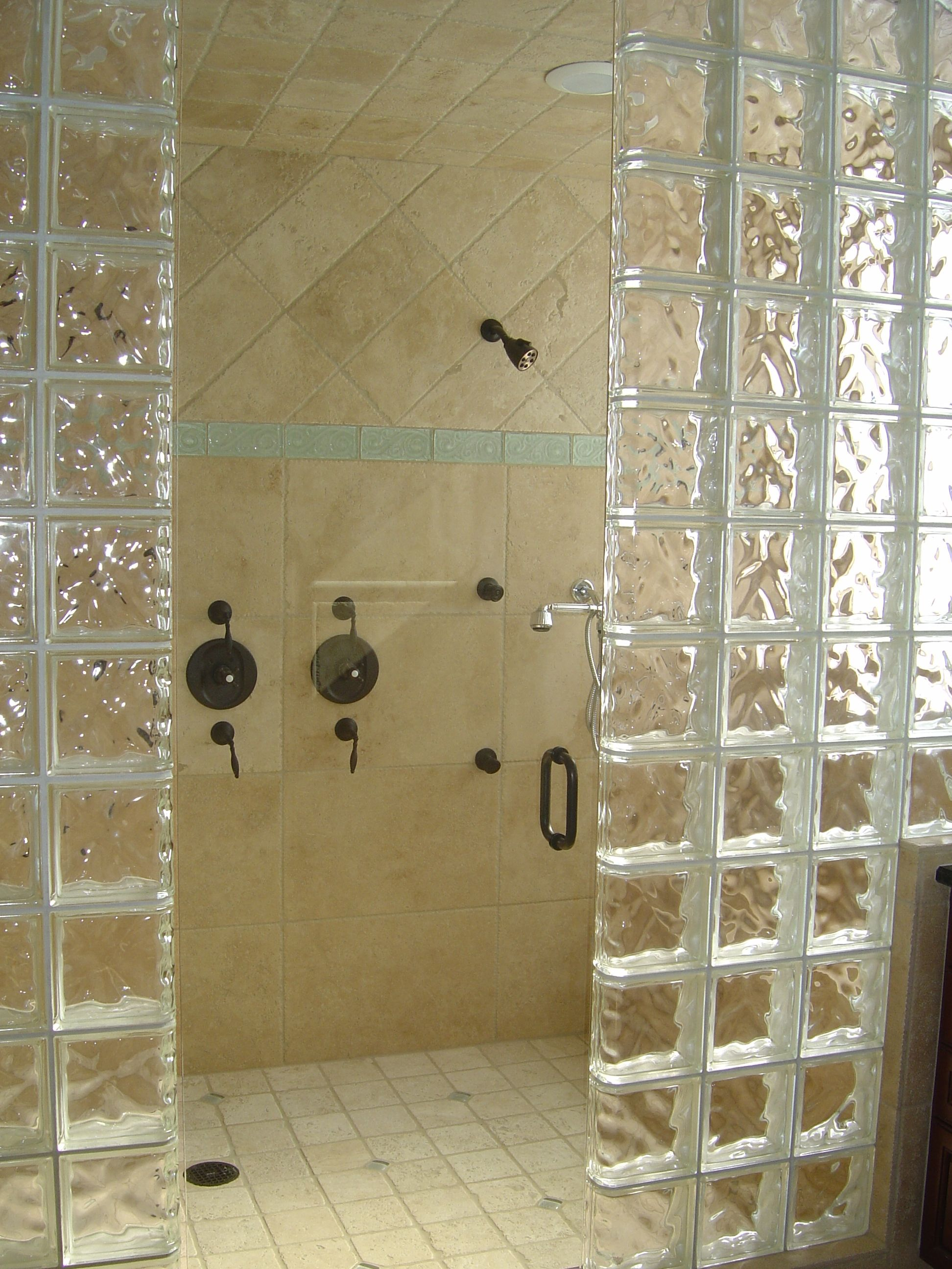 bathroom elegant minimalist open shower bathroom design with glossy frosted glass also foxy granite wall tile pattern ideas stunning contemporary open