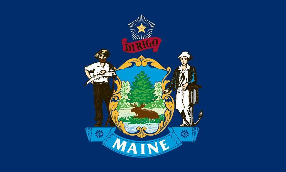 Maine State Flag Coloring Pages | Pinterest