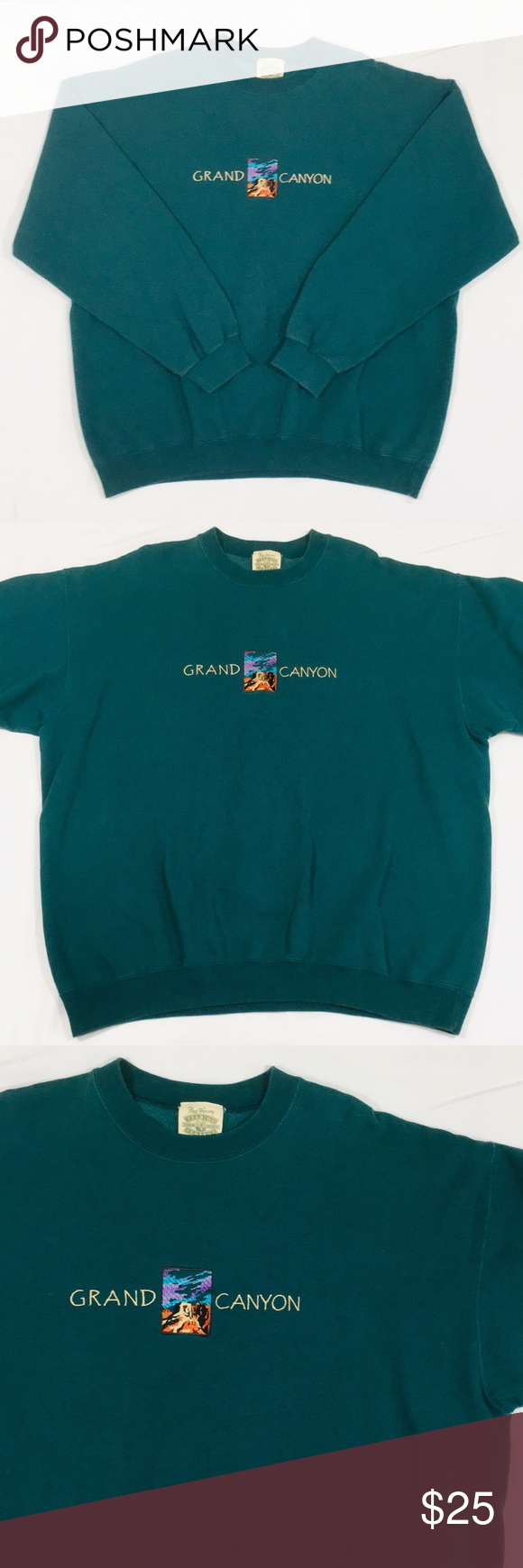 Fred Harvey Trading Company : harvey, trading, company, Vintage, Embroidered, Grand, Canyon, Crewneck, Sweater, Sweater,, Sweaters,