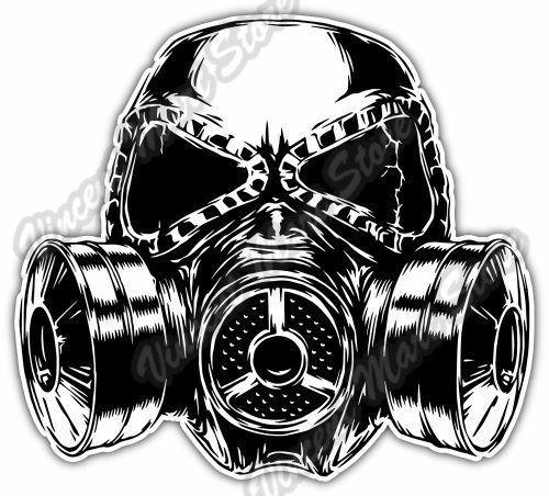 Gas Mask Sketch Biohazard Poison Toxic Car Bumper Vinyl Sticker Decal 5 X4 Gas Mask Drawing Gas Mask Art Gas Mask Tattoo
