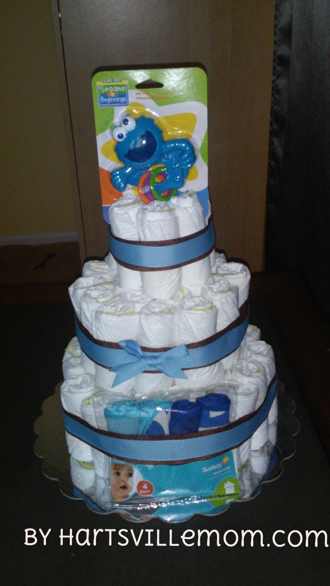 Learn How To Make A Simple Yet Beautifull 3 Tier Diaper Cake For A