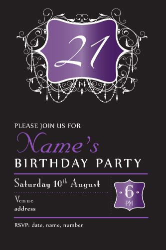 21th birthday invitations evening chic 30th birthday invitations evening chic purple ladies birthday invitation 21st birthday invitation 30th birthday invitation ladies birthday invitations chandelier invitations filmwisefo