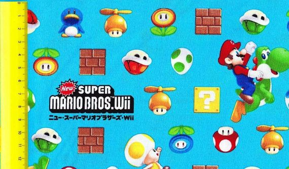 SUPER Mario fabric Blue color One yard by HanamiBoutique on Etsy  https://www.etsy.com/listing/128754293/super-mario-fabric-blue-color-one-yard?ref=shop_home_active_18