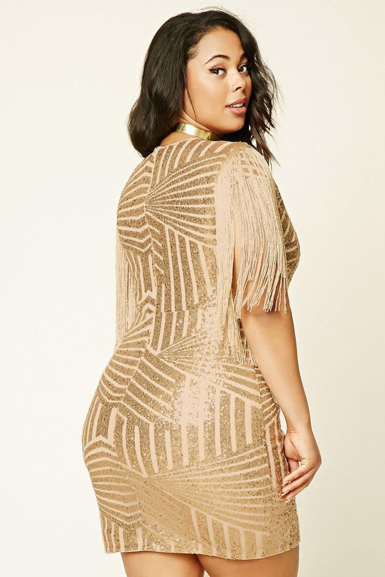 Forever 21 Sequin Dress with Fringe