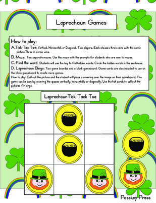 FREE Leprechaun Games From Passkey Press On