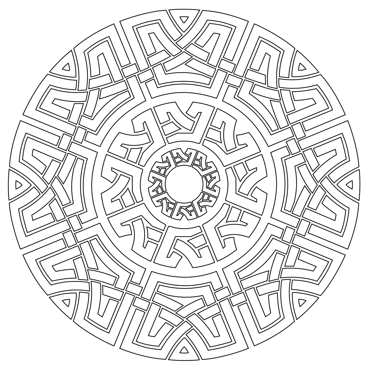 Celtic Mandala Coloring Page | Mandala coloring pages ...