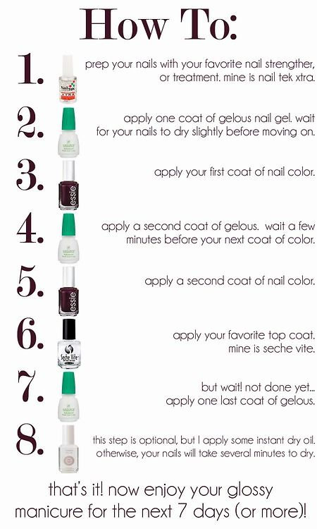 how to use gelous nail polish