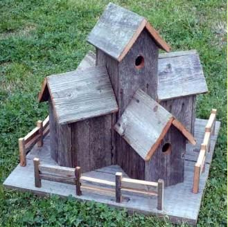 Very sweet...thinking how many of these designs are just adorable, but how proper placement is important, to keep the lodging birds safe from predators.