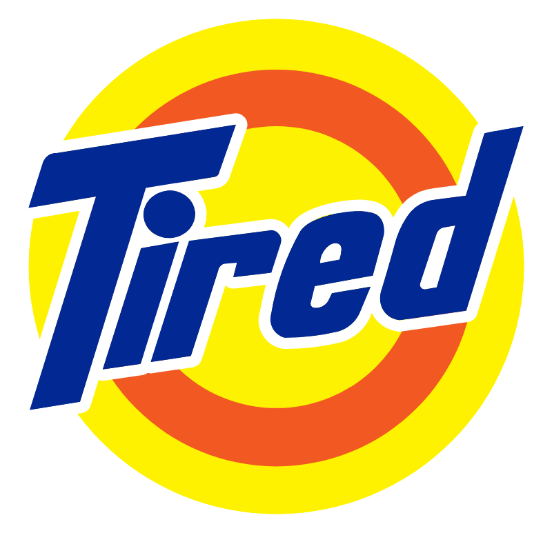 Tired Tide Logo Funny Logo Logo Sticker Shirt Print Design