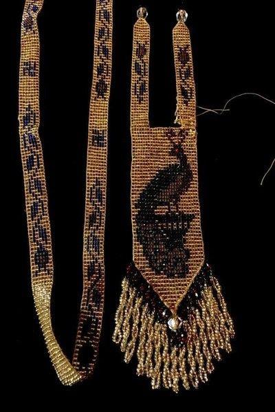 Vintage Art Deco Seed Bead Venetian Glass Flapper Peacock Necklace (Needs Repair (11/13/2015)