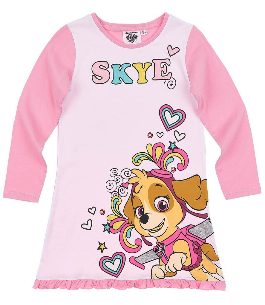 100/% Official Girls Paw Patrol Skye Everest Nightie Pyjamas 2 to 6 years