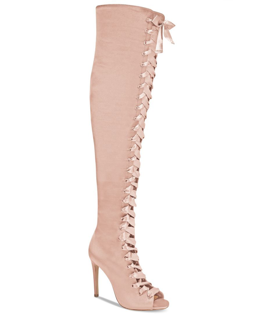 0710efcfc12 Aldo Cherisse Lace-Up Over-The-Knee Boots