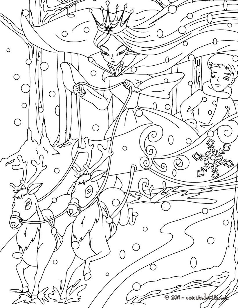 The Snow Queen Tale Coloring Page Fairy Coloring Pages Fairy